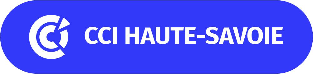 logo CCI HAUTE SAVOIE_sans baseline_Cartouche bleu_texte blanc_rvb